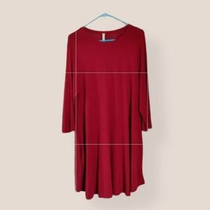 Bellamie Merlot Rayon Dress